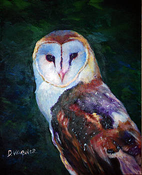 Barn Owl Profile by Denise Wagner
