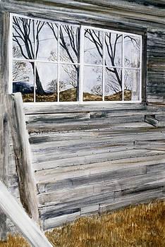 Barn Reflection by Karol Wyckoff