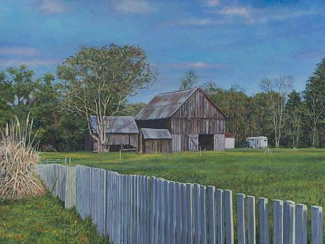 Barn Scene near Newport Inn MD by David P Zippi
