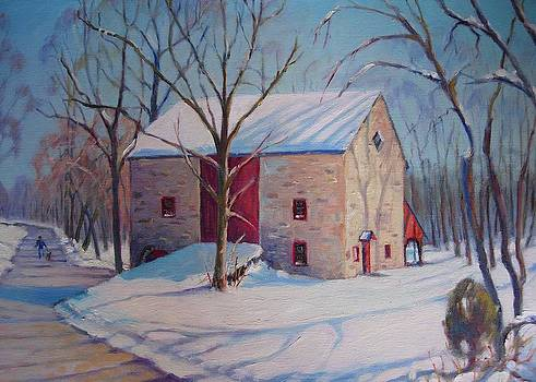 Barn With The Red Door by Bonita Waitl