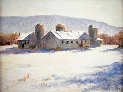 Barns In Blue  by Robert Stump