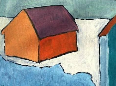 Barns on the Beach by Molly Fisk