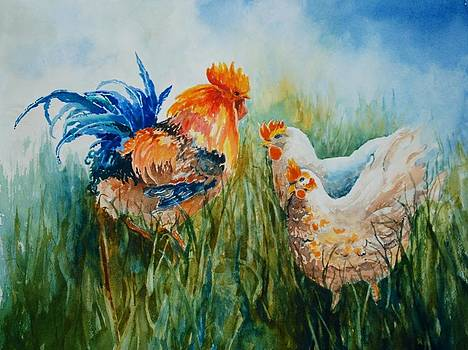 Barnyard Family by Marilyn  Clement