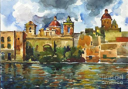 Baroque Domes and Baroque Skies of Vittoriosa in Malta by Anna Lobovikov-Katz