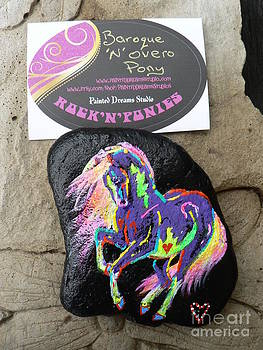 Rock 'N' Ponies - Baroque N Overo Pony by Louise Green