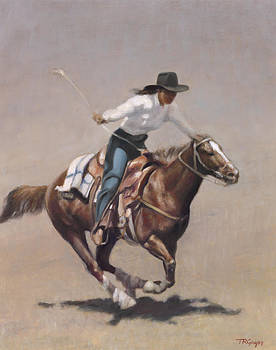 Barrel Racer Salinas Rodeo by Terry Guyer