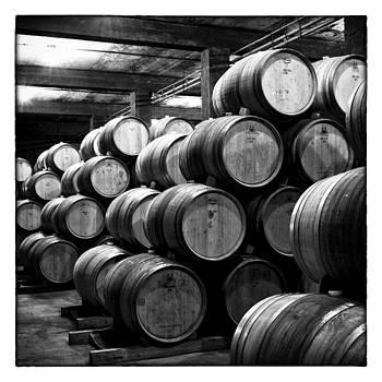 Nicole Neuefeind - Barrels in wine cellar