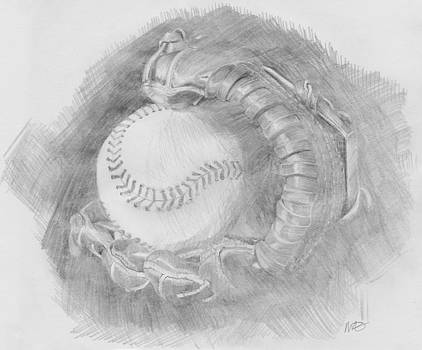 Baseball Glove by Michele Engling