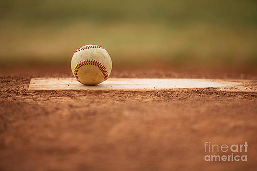 Baseball on the Pitchers Mound by David Lee