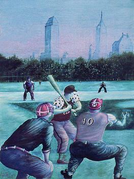 Art America Gallery Peter Potter - New York Central Park Baseball - Watercolor Art
