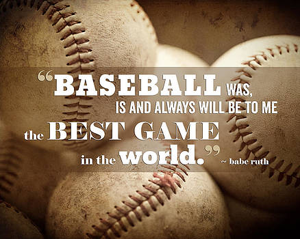 Lisa Russo - Baseball Print with Babe Ruth Quotation