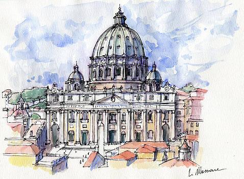 Basilica di S. Pietro a Roma -sketch by Luca Massone