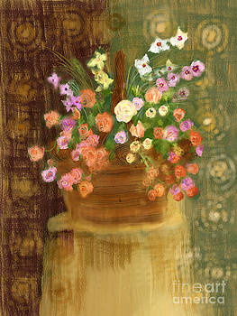 Basket of Flowers by Sydne Archambault