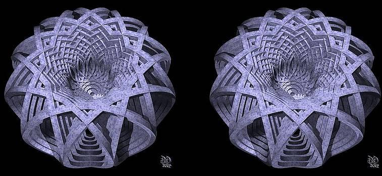 Basket of Hyperbolae - Stereogram by David Voutsinas