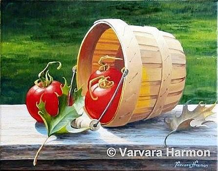 Basket with Tomatoes by Varvara Harmon