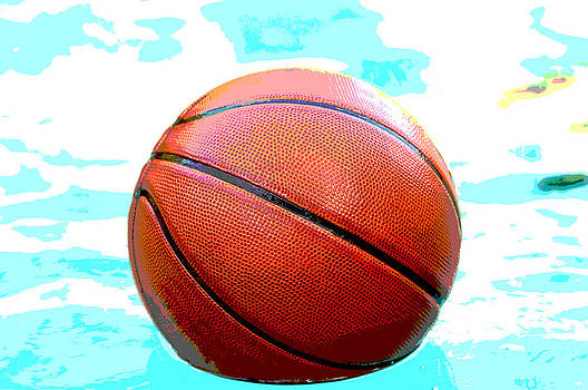 Basketball in pool by Tammy Abrego