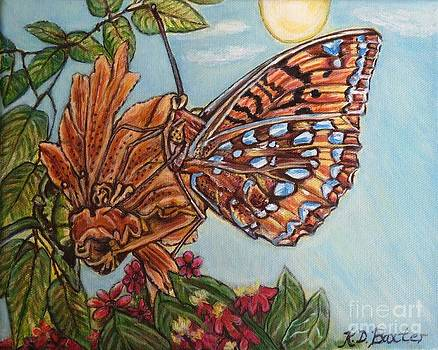 Basking in the Warmth of the Sun in a Tropical Paradise Painting by Kimberlee Baxter