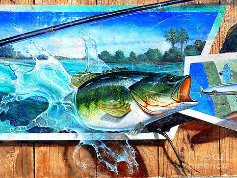 Linda Rae Cuthbertson - Bass and Lure Wall Mural