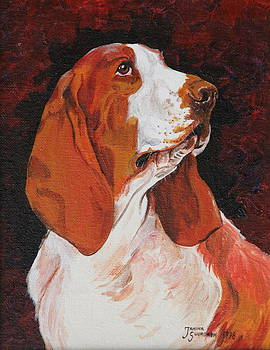 Basset called Mary by Janina  Suuronen
