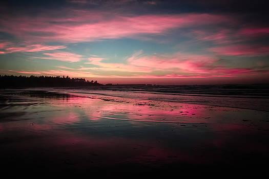 Bastendorff Beach Sunset by Sally Bauer