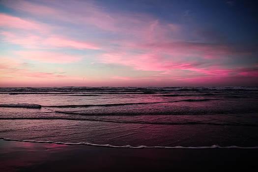 Bastendorff Beach Sunset 2 by Sally Bauer
