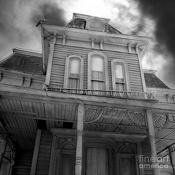 Wingsdomain Art and Photography - Bates Motel 5D28867 square Black and White