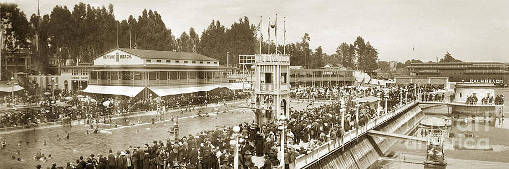 California Views Mr Pat Hathaway Archives - Bathhouse and swimming pool Neptune Beach Alameda California circa 1915