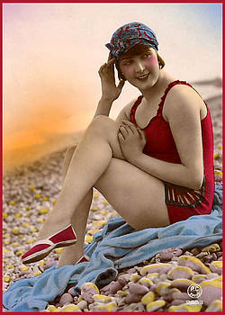 Denise Beverly - Bathing Beauty in red bathing suit