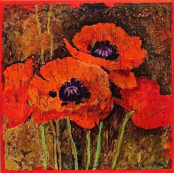 Batik Poppies by Carol  Nelson
