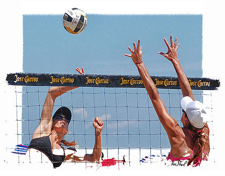 Battle at the Net by Ron Pearl