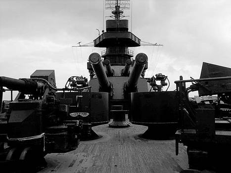 Battleship Black and White by Patricia Erwin