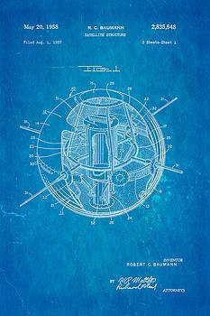 Ian Monk - Baumann Satellite Patent Art 1958 Blueprint