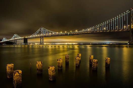 John Daly - Bay Bridge and Clouds at Night