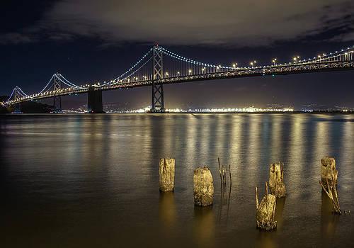 Bay Bridge at Night by Robert  Aycock