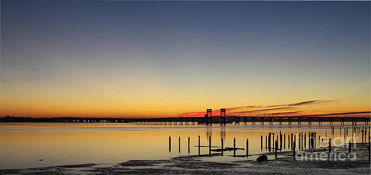 Bay sunset by Dawn Kori Snyder