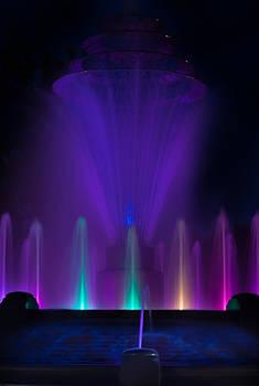 Bayliss Park Fountain purple by Becky Meyer