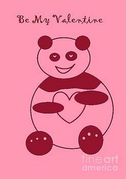 Be My Valentine Panda Girl by Ausra Huntington nee Paulauskaite