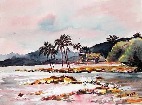 Beach at Waikiki by Richard Jules