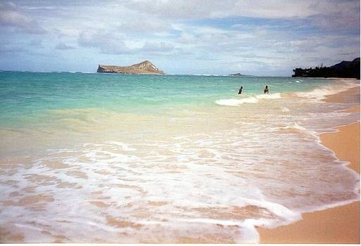 Beach at Waimea Bay Hawaii by Maggie  Cabral