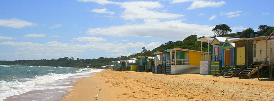 Beach Boxes Mornington by Rachael Curry