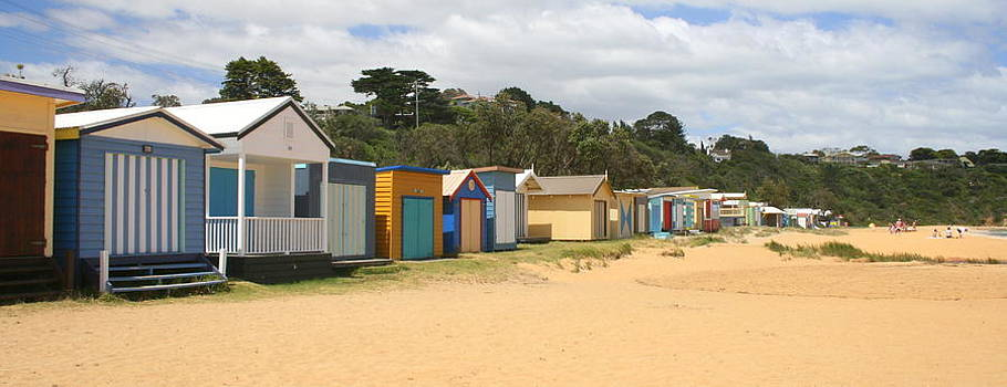 Beach Boxes Mount Martha by Rachael Curry