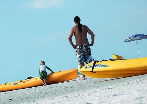 Beach Bum in Training by Kathleen Mroz