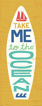 Beach Bums Surf Board Iv by Michael Mullan