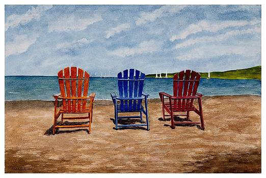 The Beach Chairs by Sharon Gerber