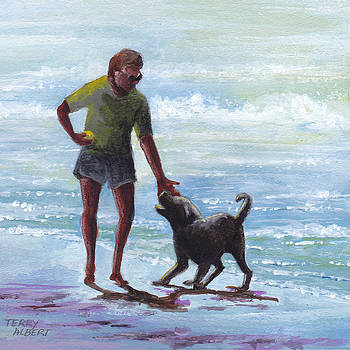 Beach dog by Terry Albert