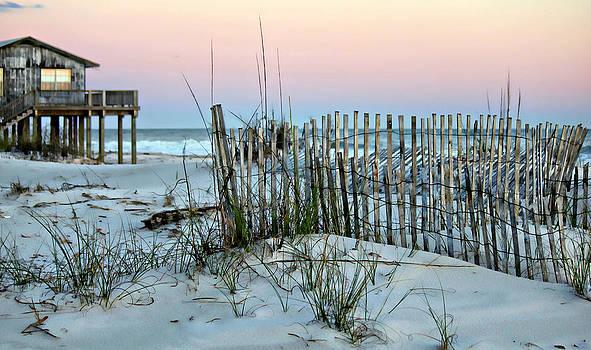 Beach Fence at Dusk by Lynn Jordan