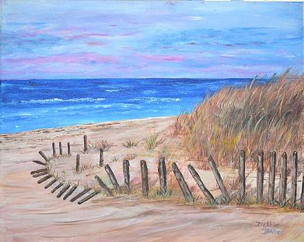 Beach Fence by Debbie Baker