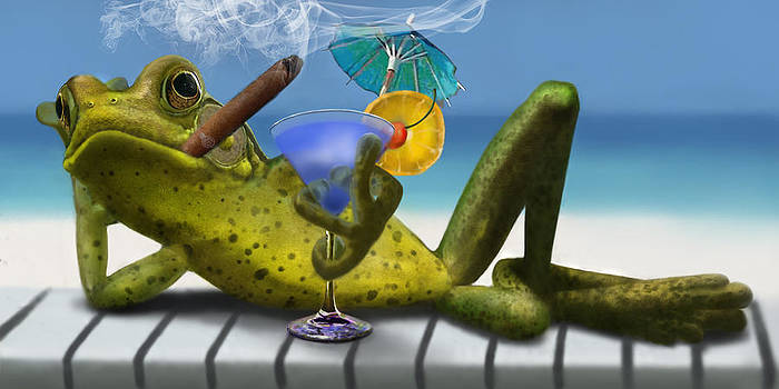 Beach Frog by Randall Scott