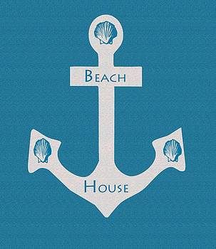 Beach House Anchor sign by Kate Farrant