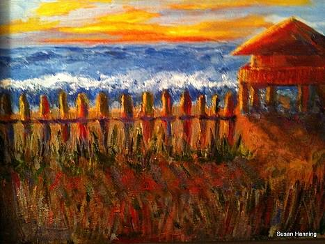 Beach House Sunset by Susan Hanning